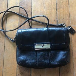 Coach, black crossbody purse